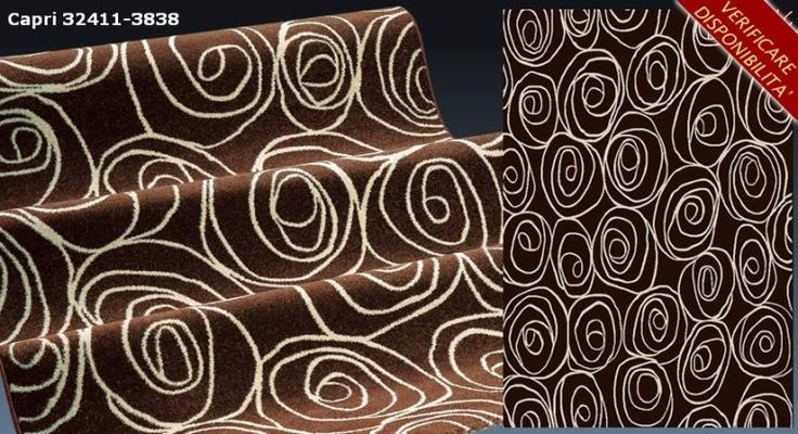 Tappeto 80x150 capri 32411-3838 design moderno polipropilene  Art. SITCAP83880150    I tappeti sono gli elementi decorativi della casa per eccellenza.  I nostri prodotti hanno un ottimo rapporto qualita'/prezzo e si prestano ad arredare con stile la vostra casa.  Misure tappeto: 80X150 cm  Materiale: polipropilene heat-set 100%  Grammatura: gr. 2400/mq. ca.