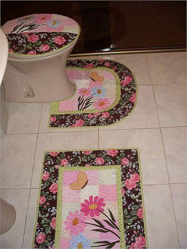 Juego de baño flores