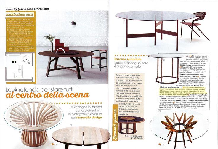 L'Abbate Italia: Home! 10.2017. Stube table > design Mikko Laakkonen.
