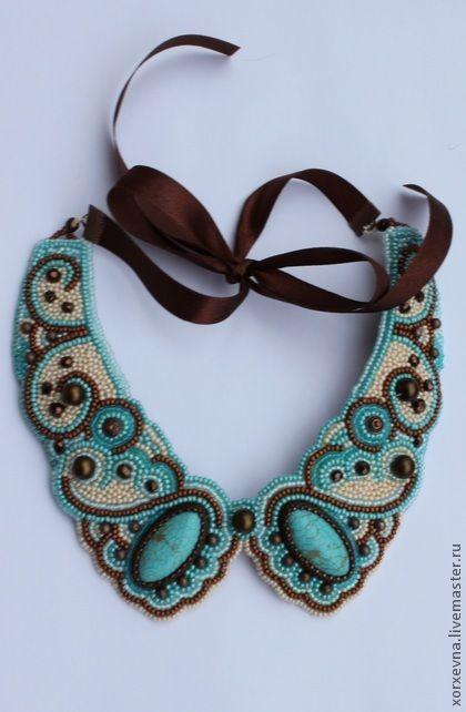 "Necklaces made ​​of beads . Trade Masters - handmade collar ""Vanilla Sea."""