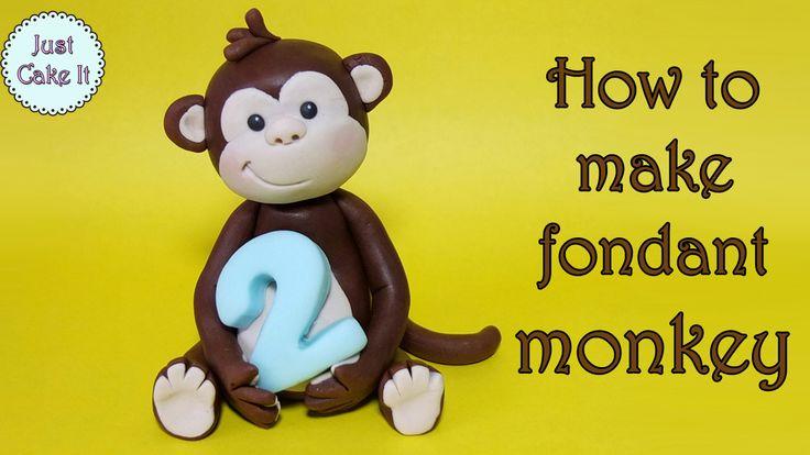 How to make fondant monkey figurine cake topper tutorial https://www.youtube.com/watch?v=JBkaV1C3QZU