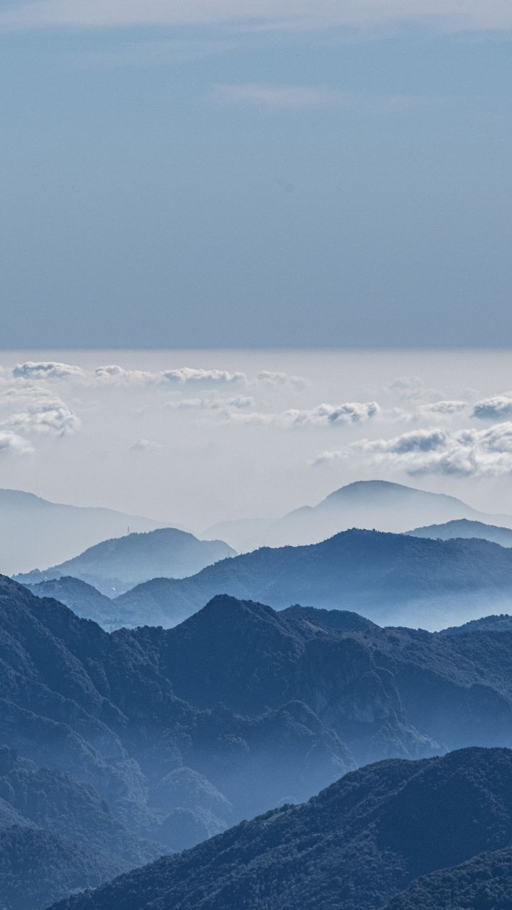 720x1280 All Clouds Mountains Peak Nature Horizon Wallpaper Mountains Clouds Nature