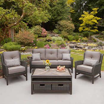 Fantastic St Louis 4 Piece Deep Seating Set Deck In 2019 Patio Beutiful Home Inspiration Ommitmahrainfo