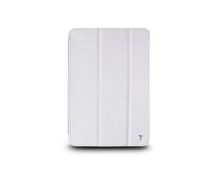 The Joy Factory SmartSuit iPad Mini   Ultra Slim Snap On Stand/Case with Wake up/Sleep CSE102 817713011496 Silver White