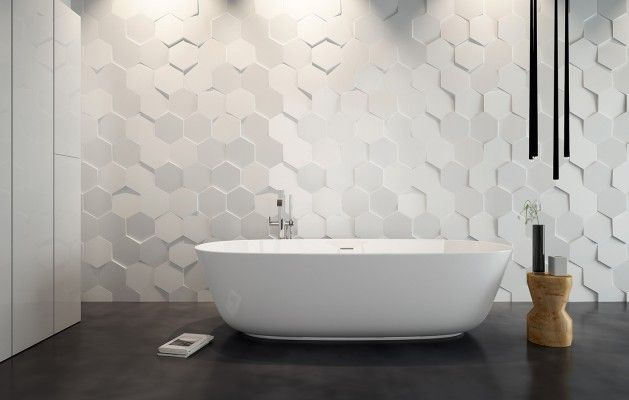 With sleek floor tile, our WOW collection tile brings the perfect pop! #HIT #Tile #Design