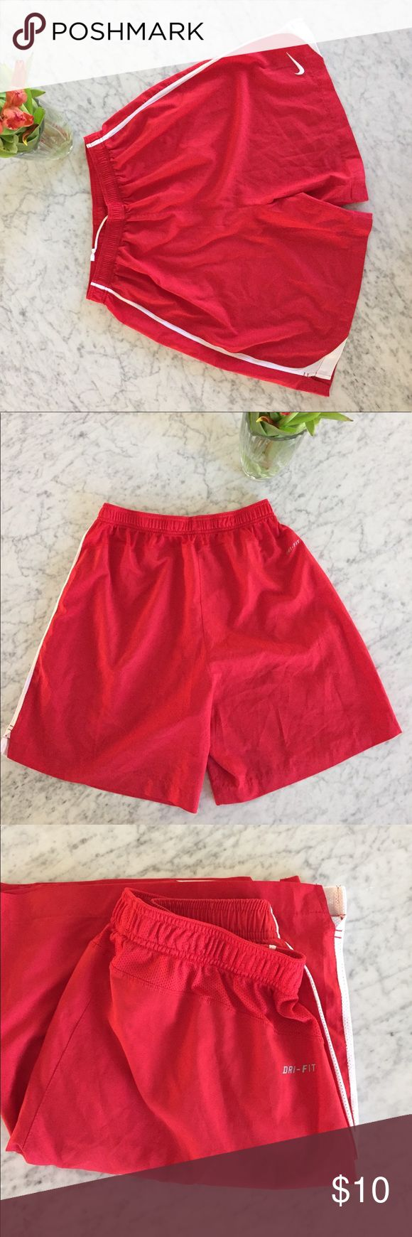 Men's Nike dri fit shorts Men's Nike drifit shorts in red; used; great color to make into a Halloween costume Nike Shorts Athletic