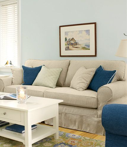 pine point slipcovered sofa pine beans and linens. Black Bedroom Furniture Sets. Home Design Ideas