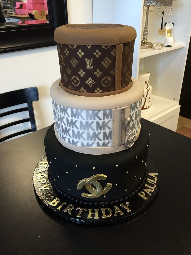 Luxury designer brands cake. Louis Vuitton, Michael Kors and Channel!