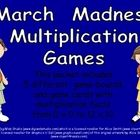 "Are your students sports fanatics?? Capitalize on their excitement about March Madness and use it to practice multiplication facts!!   This packet includes 5 different game-boards for students to use. There are game cards with all basic multiplication facts, from 0 x 0 up to 12 x 12. The facts are printed with all of one ""times table"" on the same page to make it easy to differentiate based on the needs of your students.$"