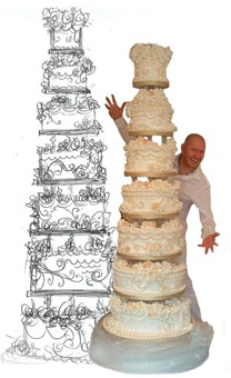 Contemporary Wedding Cakes Pinterest