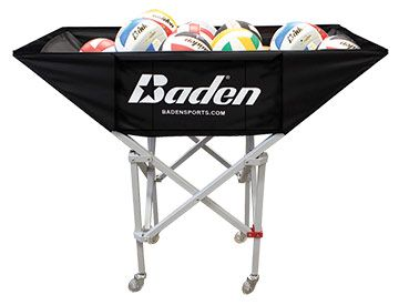 Baden Hammock Ball Cart • Holds 30+ balls • Clear rollerblade wheels roll easily and won't mark floors • Reinforced, heavy-duty   Midwest Volleyball Warehouse