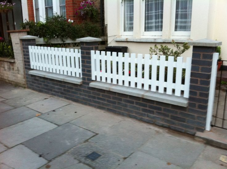 17 best images about front yard fence on pinterest for Front garden wall designs