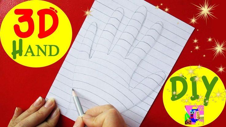 DIY How to Draw a 3D HAND. Trick Art Optical Illusion Fast and Easy | DIY 3D РУКА оптическая иллюзия. Как нарисовать карандашом 3D рисунок на бумаге.