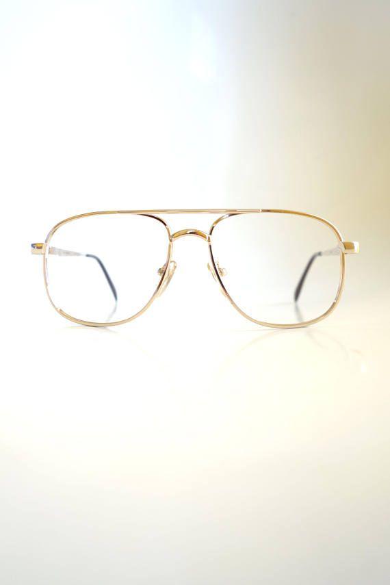 16eea7a14 Metallic Gold Aviator Glasses Mens Aviators Double Bridge Hip | Oliver &  Alexa Vintage Eyewear | Aviator glasses, Glasses, Gold aviators