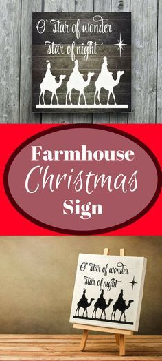 Rustic Christmas Decoration Christmas Sign Nativity Wise Men Wall Decal or Wood Stencil DIY Christmas Holiday Sign Farmhouse Christmas Decor #afflink
