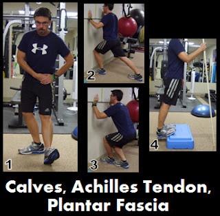 stretches- calves, achilles tendon - always tight on me!
