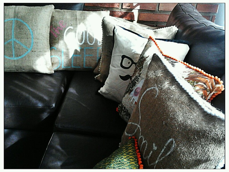 Lots of MOSCÚ pillows for your sofa!    www.facebook.com/MoscuFanPage