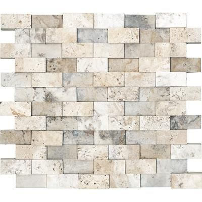 Anatolia - Honed Cubics Picasso Travertine Mosaics - 1 Inch x 2 Inches - 76-059 - Home Depot Canada