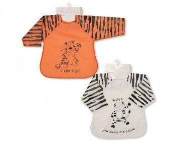 Nursery Time Baby Bib With Sleeves - Tiger: Amazon.co.uk: Baby