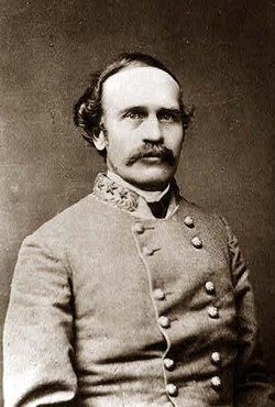 Major General Bushrod Rust Johnson (Oct 7, 1817 – Sep 12, 1880), served with the Army of Northern Virginia under Robert E. Lee. Johnson commanded a division in the section of trenches manned by the South Carolinian troops in the Battle of the Crater. They captured 3 stands of colors and 130 prisoners that day. His men spent the remainder of the Siege of Petersburg in the trenches, ending up at the Battle of White Oak Road and Battle of Five Forks.