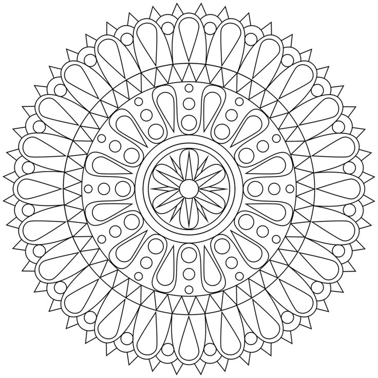 mandala coloring pages - Teen Coloring Pages
