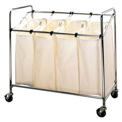 Laundry Sorter - Chrome.Opens in a new window: Organization, Households, Bag, Chrome, Laundry Sorter, Laundry Rooms, Essentials 6024