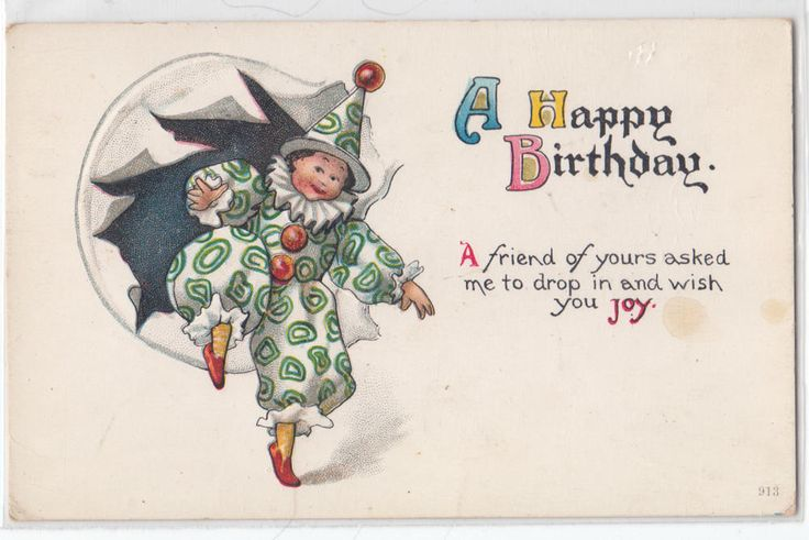 Clown - Happy Birthday