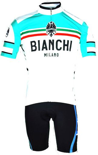 BIANCHI MILANO CIANCIANA GREEN WHITE  JERSEY Made in Italy