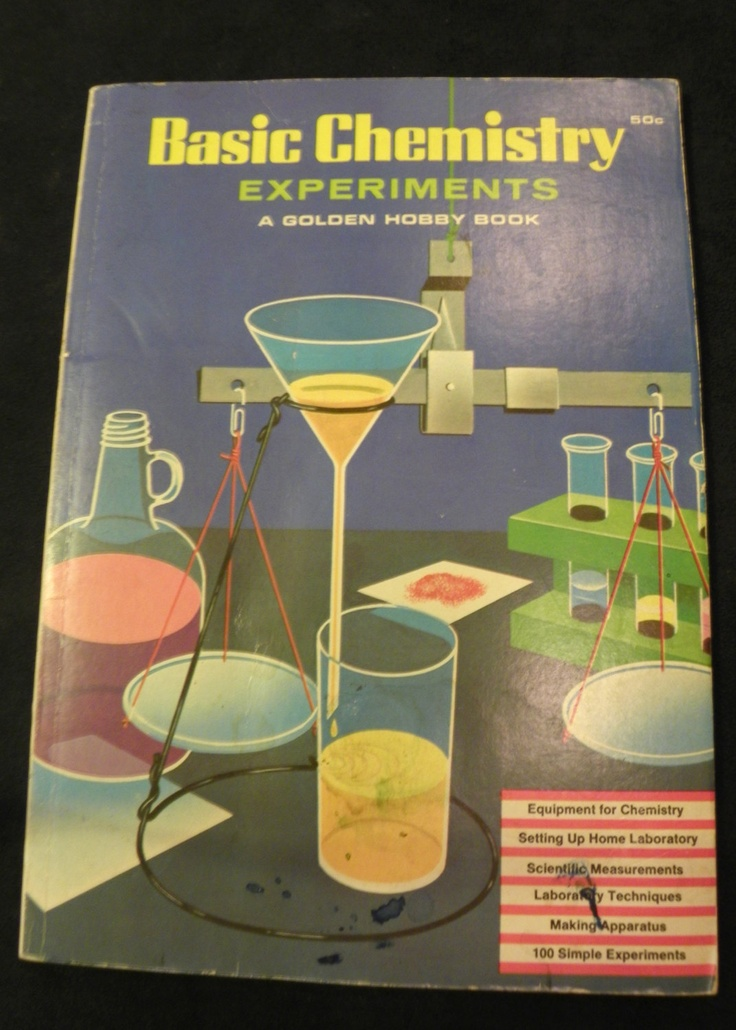 basic chemistry experiments golden hobby book robert brent 1965 edition