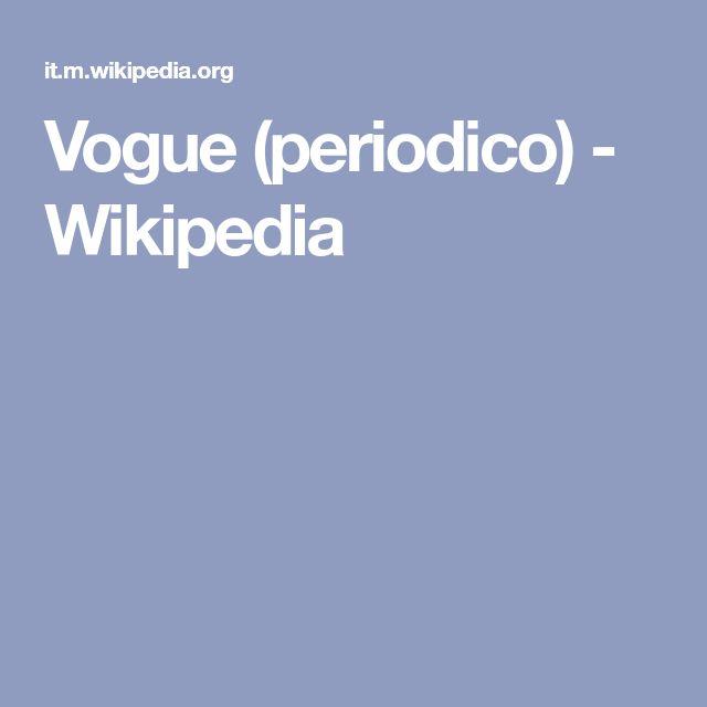 Vogue (periodico) - Wikipedia