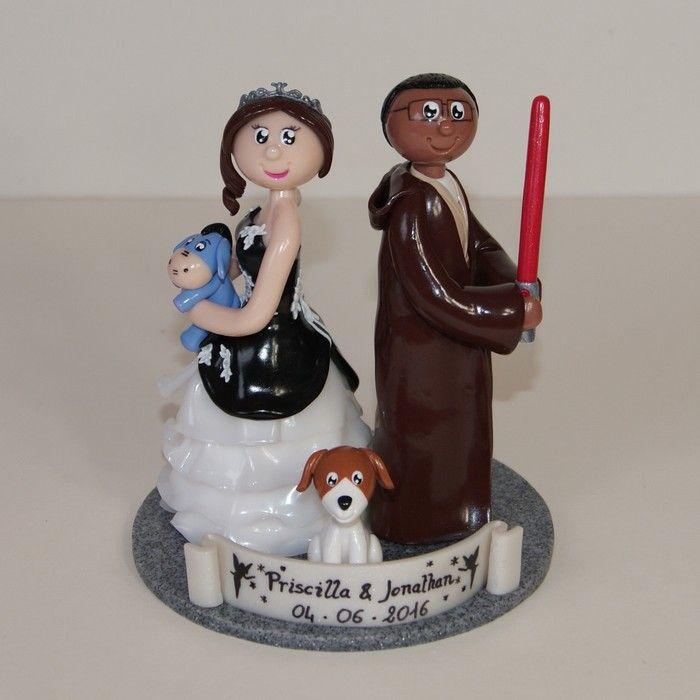 Wedding cake topper / figurines de mariage personnalisées / Star Wars / Bourriquet / Disney / gâteau de mariage