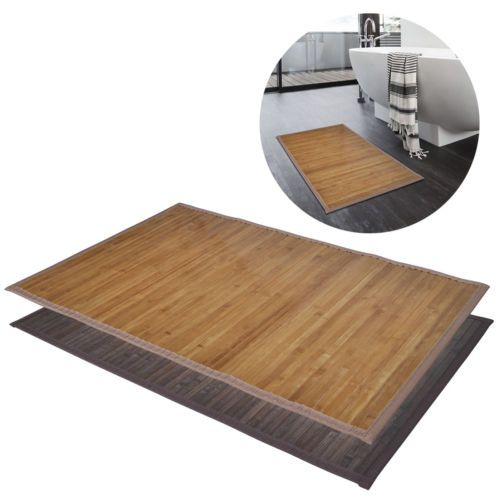 2 #bamboo wood #wooden rectangular bathroom bath #shower mats 40x50/60x90cm brown,  View more on the LINK: 	http://www.zeppy.io/product/gb/2/331972378841/
