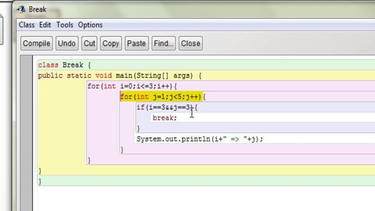 Java Break Statement using for Inner Loop