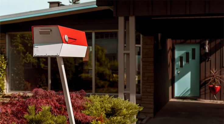 The finishing touch, a mid-century modern mailbox!