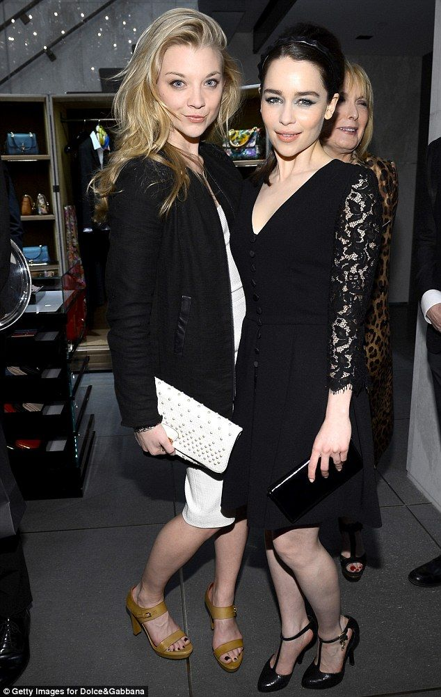 Natalie Dormer and Emilia Clarke - took me a second to recognize them! Khaleesi!!!!