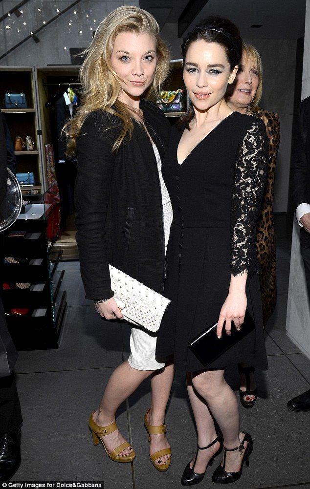 Natalie Dormer and Emilia Clarke - took me a second to recognize them! Khaleesi!!!!