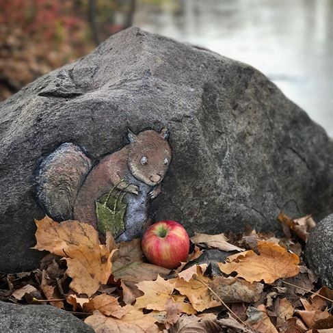 David Zinn, The Dexter Cider Mill, USA, 2016                                                                                                                                                                                 More