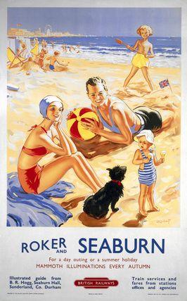 'Roker and Seaburn', British Railways Poster, (1953) Artist: Alfred Lambart