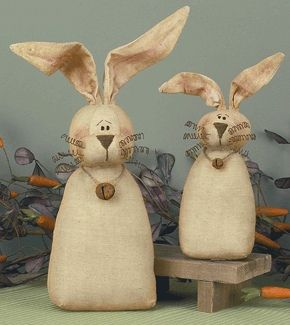 Country Bunnies with Bells by rustic-country, via Flickr