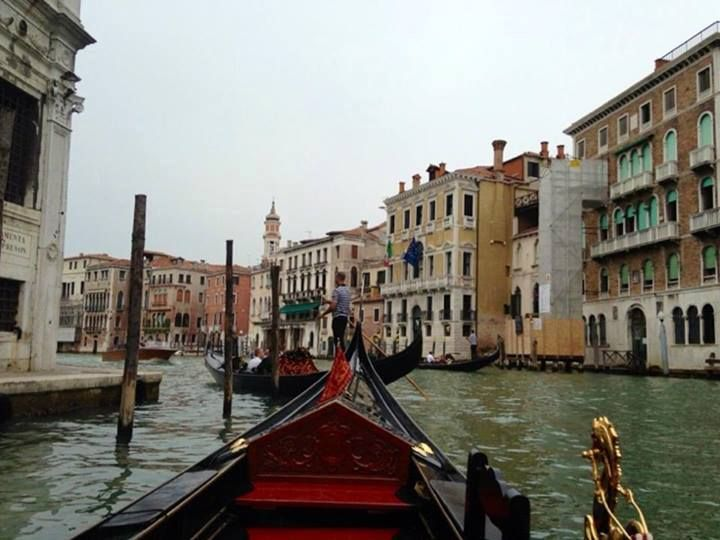 On our Gondola ride in Venice