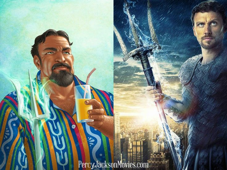 Poseidon and Kevin McKidd (Percy Jackson and the Olympians The Lightning Thief)