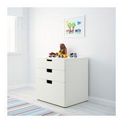 STUVA Commode 3 tiroirs, blanc - 60x64 cm - IKEA