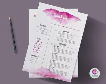 Création modèle CV / resume modèle lettre de par ChicTemplates