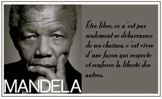 Citations et Panneaux Facebook à partager: Citation de Nelson Mandela sur la liberté