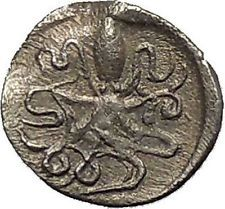 SYRACUSE in SICILY 460BC Silver Litra NYMPH Arethusa OCTOPUS Greek Coin i54090