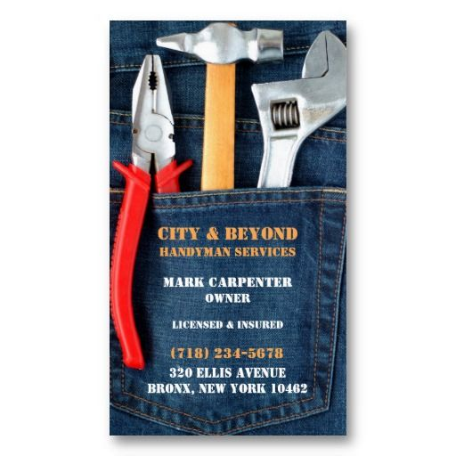 The 273 best business cards images on pinterest real estate handyman tools business card reheart Images