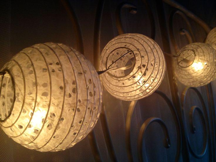 Lanterns on my bedhead