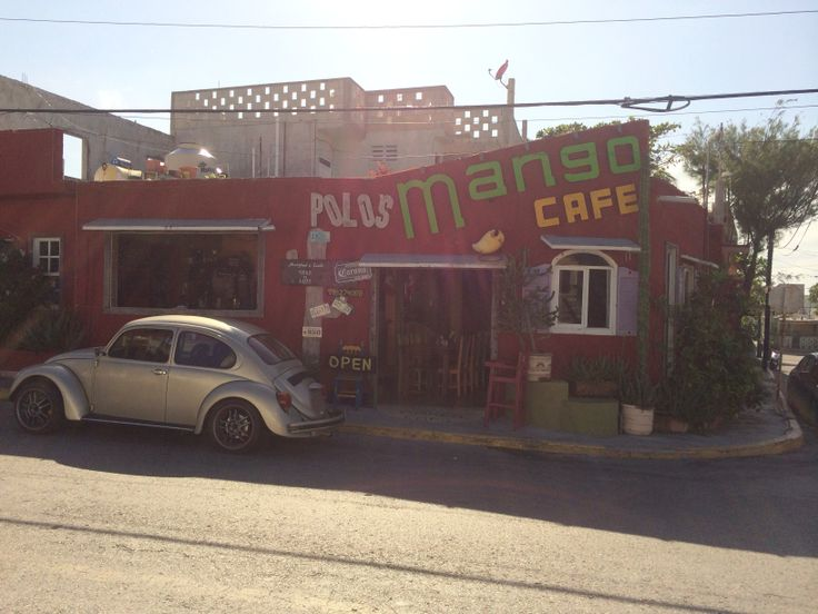 Mango Cafe, Isla Mujeres, Mexico. I can see our plate out front!!!!!