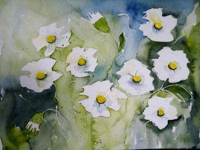 43 best Blumen Aquarelle images on Pinterest