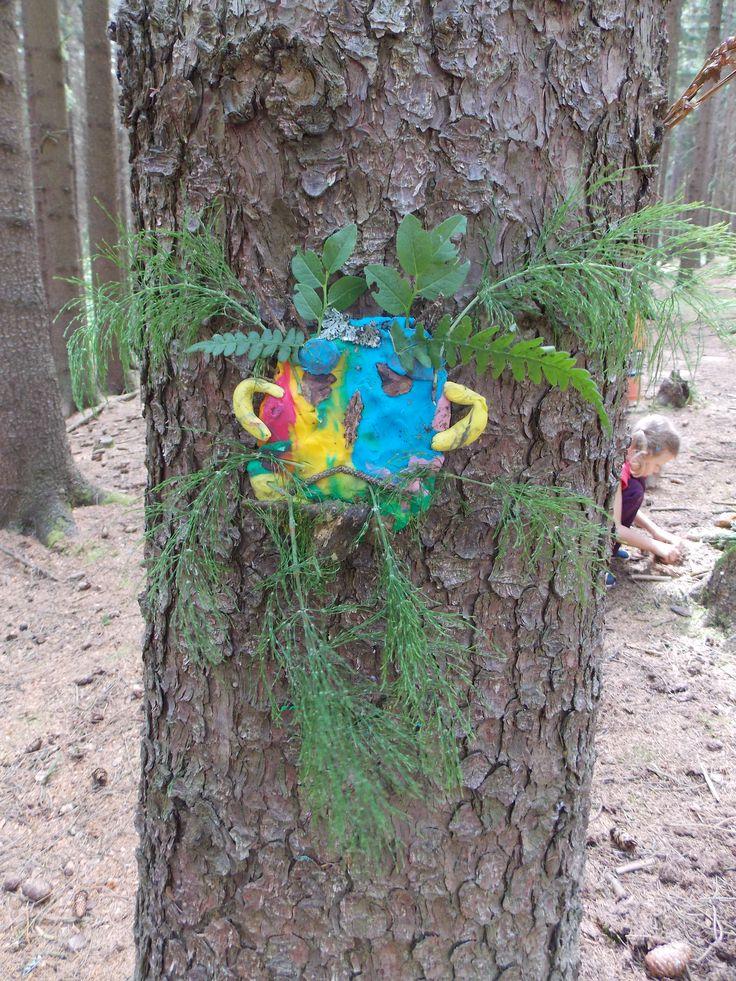 Školka v přírodě - tvoření